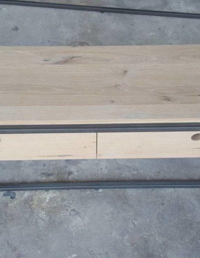 TV cabinet oak metal